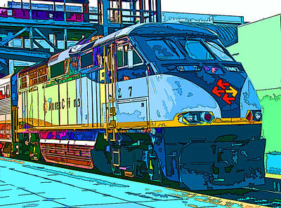 Amtrak Locomotive Study 2 Art Print by Samuel Sheats