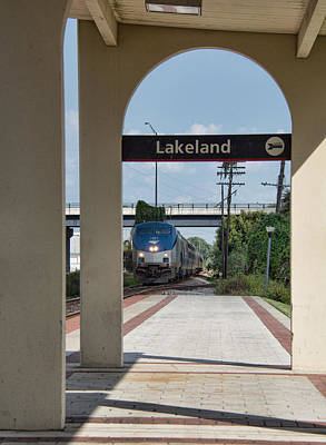 Photograph - Amtrak P091 Westbound To Tampa Florida by John Black