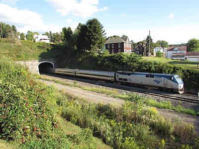 Photograph - Amtrak Pennsylvanian Train heading through the Gallitzin Tunnels near Altoona, PA by David Witoslawski