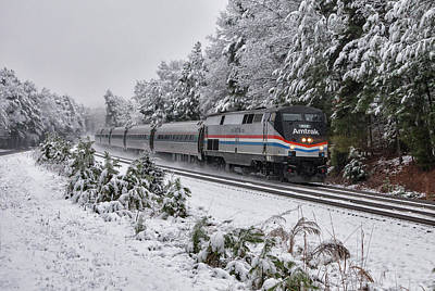 Wall Art - Photograph - Amtrak Train #80 by Cliff Middlebrook