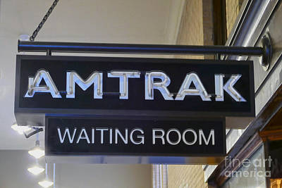 Photograph - Passenger Train Waiting Room Sign by Catherine Sherman