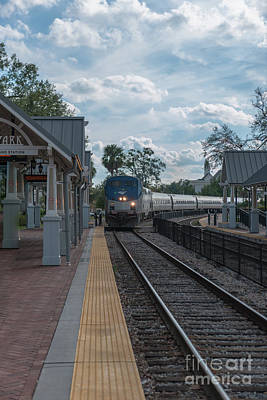 Photograph - Amtrak Winter Park by Dale Powell