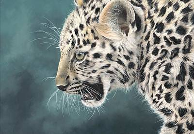 Painting - Amur Leopard Cub by Clive Meredith
