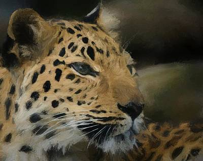 Digital Art - Amur Leopard Da by Ernie Echols