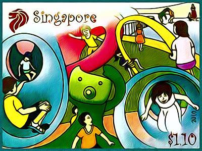 Amusement Park In Singapore 1 Art Print