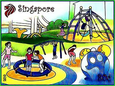 Amusement Park In Singapore 2 Art Print