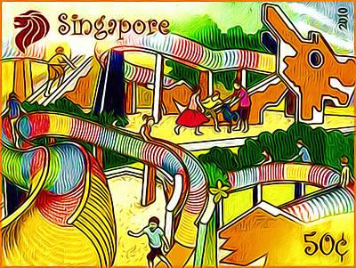 Amusement Park In Singapore 4 Art Print