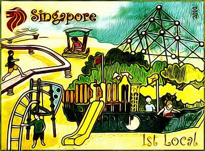 Amusement Park In Singapore 5 Art Print