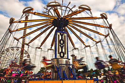 Photograph - Amusement Park by Maria Coulson