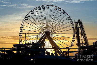 Rollercoaster Photograph - Amusement Park Sunset by Anthony Totah