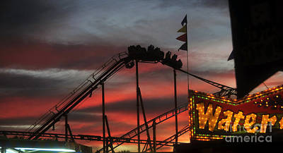 Roller Coaster Photograph - Amusement Ride by David Lee Thompson