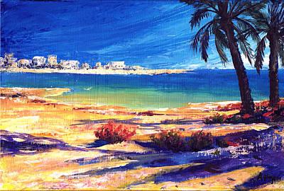 Four Seasons Tree Nature Summer Painting - Amwaj Islands 1 by Amani Al Hajeri