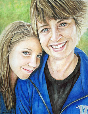 Colored Pencil Painting - Amy And Haley by Charlotte Yealey