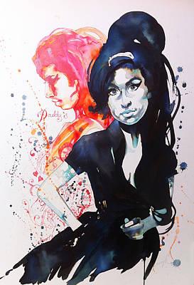 Icon Drawing - Amy II by Samantha Baguley