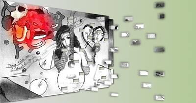 Digital Art - Amy by Jan Steadman-Jackson