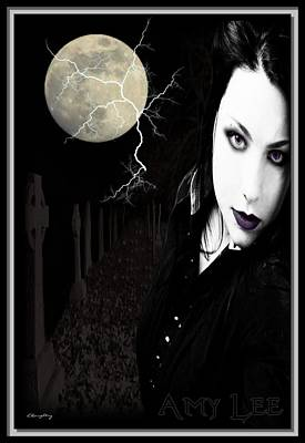 Graveyard Mixed Media - Amy Lee by Lisa Daughtry
