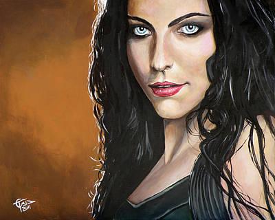 Amy Lee Art Print by Tom Carlton