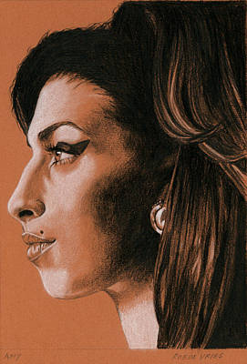 Drawing - Amy by Rob De Vries