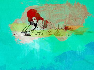 British Rock Band Painting - Amy Winehouse 3 by Naxart Studio