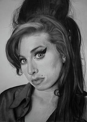 Famous Women Singers Drawing - Amy Winehouse by Dagmara Cielecka