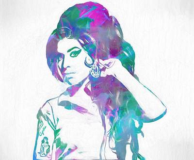 Tribute To Women Painting - Amy Winehouse by Dan Sproul