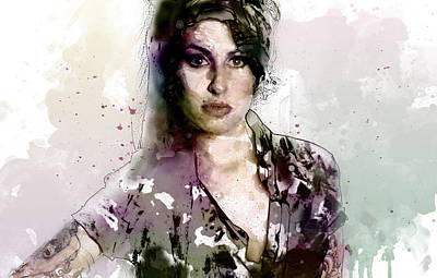 Amy Winehouse Art Print by Elena Kosvincheva