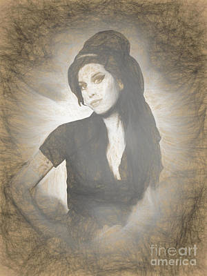 Full-length Portrait Digital Art - Amy Winehouse by Galambosi Tamas
