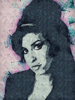 Mixed Media - Amy Winehouse Illustration by Studio Grafiikka
