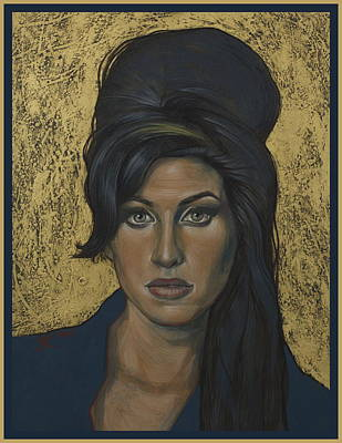 Painting - Amy Winehouse by Jovana Kolic