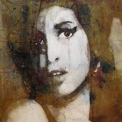 Portrait Mixed Media - Amy Winehouse Love Is A Losing Game  by Paul Lovering