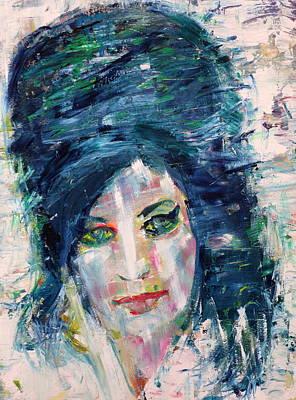 Painting - Amy Winehouse - Oil Portrait by Fabrizio Cassetta