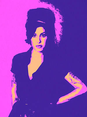 Tribute To Women Mixed Media - Amy Winehouse Pop Art by Dan Sproul