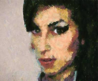 Tribute To Women Painting - Amy Winehouse Portrait by Dan Sproul