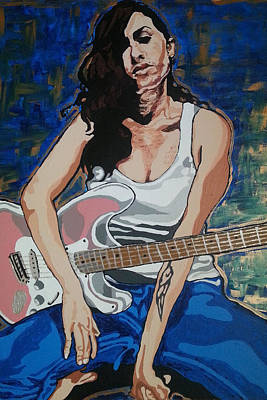 Painting - Amy Winehouse by Rachel Natalie Rawlins