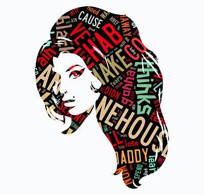 Amy Winehouse Rehab Art Print