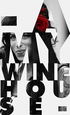 To Know Digital Art - Amy Winehouse by Semih Yurdabak