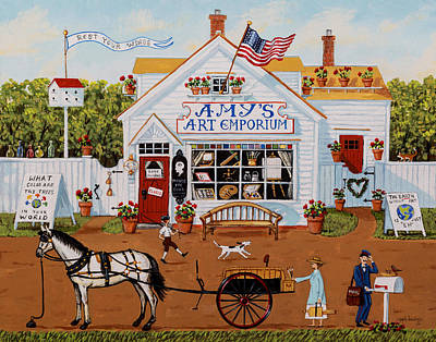 Painting - Amy's Art Emporium by Joseph Holodook