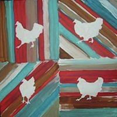 Painting - Amy's Chickens by Sarah LaRose Kane