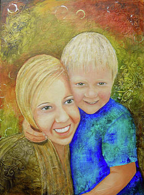 Painting - Amy's Kids by Terry Honstead