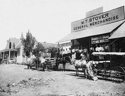 General Store Photograph - An 1885 General Store by Underwood Archives