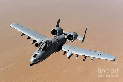 Photograph - An A-10 Thunderbolt II Over The Skies by Stocktrek Images