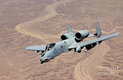 Iraqi Photograph - An A-10 Thunderbolt Soars by Stocktrek Images