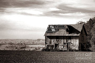 Sepia Vintage Farmhouse Photograph - An Abandoned Farmhouse In Normandy by Olivier Le Queinec