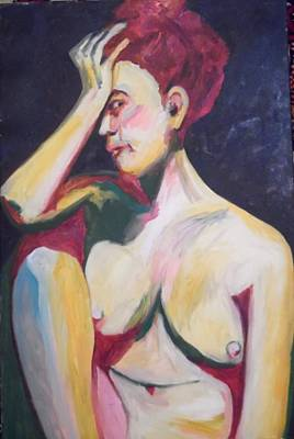 Painting - An Aborted Woman by Esther Newman-Cohen