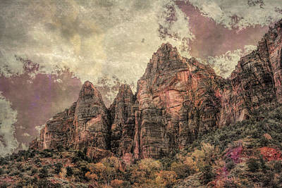 Photograph - An Abstract Of Zion by John M Bailey