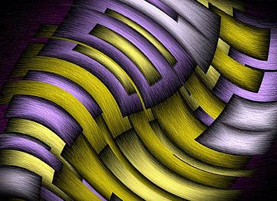 Purple Abstract Digital Art - An Abstract Slope by Terry Mulligan