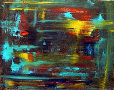Obama Painting - An Abstract Thought by Jack Diamond