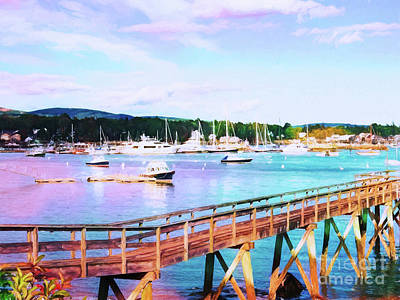 Photograph - An Abstract View Of Southwest Harbor, Maine  by Anita Pollak