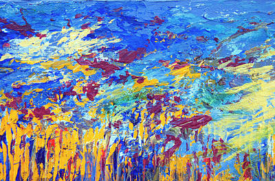 Painting - An Abstract Vision Under The Sea by Tracie L Hawkins
