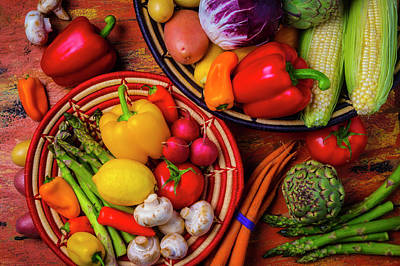 Photograph - An Abundance Of Vegetables by Garry Gay
